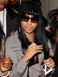Capless Black With Bangs Comfortable Nicki Minaj Hair Wigs