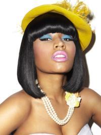 Capless Black With Bangs Soft Nicki Minaj Hair Wigs