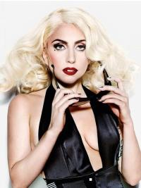 Heat Friendly Synthetic Celebrity Wigs Layered Curly Durable Lady Gaga