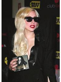 Blonde Layered Lady Gaga Human Hair Wig Remy