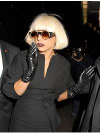 Celebrity Hairstyle Wigs Bobs Straight Chin Length Synthetic Exquisite Lady Gaga
