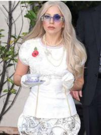 Celebrity Wig Maker Without Bangs Wavy Long Synthetic Perfect Lady Gaga