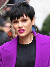 Celebrity Black Wigs Capless Boycuts Synthetic Sassy Jessie J