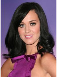Black Shoulder Length Synthetic Cheapest Katy Perry Wig Black