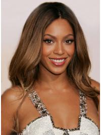 "Auburn Without Bangs Wavy 24"" Beyonce Human Hair Wigs Remy Indian"