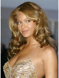 "Hairstyles Without Bangs Curly 24"" Beyonce Blonde Long Human Hair Wigs"
