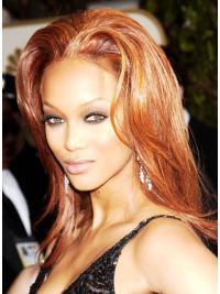 Straight Layered Capless Black Women Natural Hair Wig