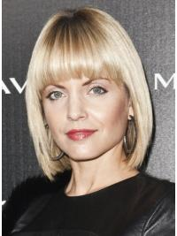 Celebrity Style Wigs Bobs Straight Chin Length Synthetic Good Mena Suvari