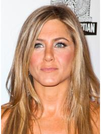 Blonde Straight Convenient Synthetic Wigs Jennifer Aniston Style