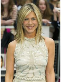 Capless Layered Shoulder Length 14 Inches Medium Length Jennifer Aniston Wigs