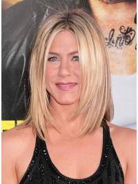 Lace Front Layered Shoulder Length 13 Inches Synthetic Wigs Jennifer Aniston Style