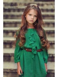 Fashion Auburn Wavy Children Real Hair Wigs