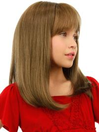 Affordable Blonde Straight Children Human Hair Wigs