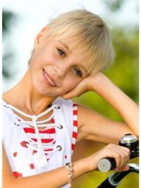 Amazing Blonde Straight Children Hair Replacement Wig