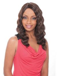 High Quality Brown Wavy Synthetic Long Hair Capless Wigs