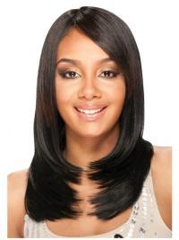 Cheap Long Yaki Black African Human Hair Wigs