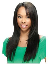 Black Straight Long Fashion U Part Wig Sale