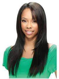 Black Straight Long Fashion U Part Wig Sale