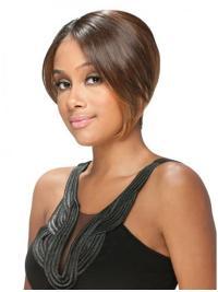 Brown Straight Short Popular U Part Wigs