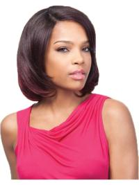Auburn Straight Chin Length Natural U Part Wigs For Sale