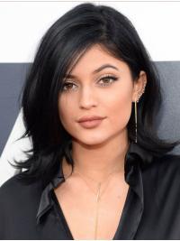 Black Layered Wavy Shoulder Length Kylie Jenner Wigs
