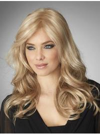 The wig has been designed more natural. This lovely long romantic style has lengths over the shoulder with modern unkept waves that appeals to today's fashionista's.