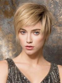 It is very chic, short Remy human hair wig.