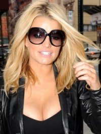 Lace Front Without Bangs 12 Inches Popular Jessica Simpson Real Hair Wigs