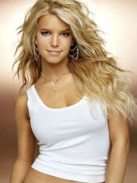 Layered Celebrity Long Blonde Human Hair Wigs 18 Inches Best