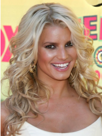 Lace Front Blonde Remy Human Hair Stylish Jessica Simpson Wigs