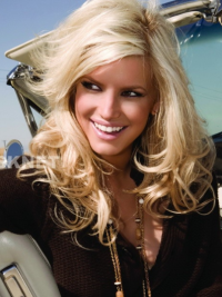 Lace Front Blonde Remy Human Hair Trendy Jessica Simpson Wig