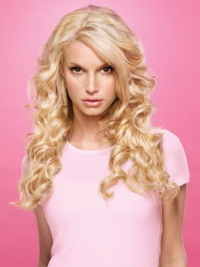 Lace Front Blonde Remy Durable Jessica Simpson Human Hair