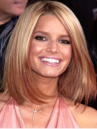 Lace Front Ombre/2 Tone Remy Human Hair No-Fuss Jessica Simpson Wig Deal