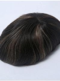 Mono Base 100% Human Hair Man Toupees