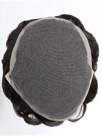 Human Hair French Lace With Poly Coated Sides And Back Toupee For Man