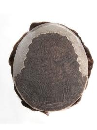 French Lace Hair Toupee With Thin Poly Coated In The Back Man Toupees