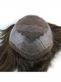 100% Human Hair Dark Brown Mens Hairpiece