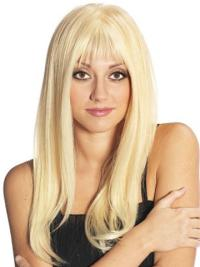 Perfect 2018 Full Lace Wigs Human Hair With Bangs Blonde Long