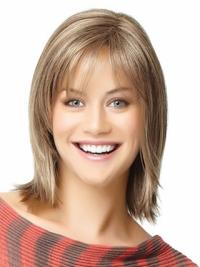 Shoulder Length Blonde Straight Best Natural Bob Wigs Human Hair
