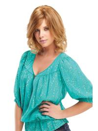 """Online 12"""" Chin Length Blonde Wavy Layered Synthetic Wigs"""