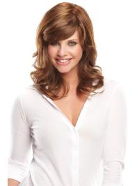 Hairstyles Shoulder Length Wavy Wigs Human Hair With Bangs