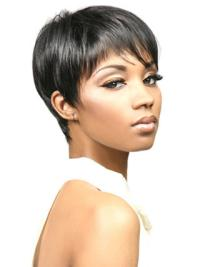 Boycuts Cropped Synthetic Hair Wigs For Black Women