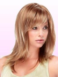 Layered Straight Capless Medium Straight Wig