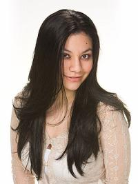 High Quality Black Straight 24 Synthetic Wig