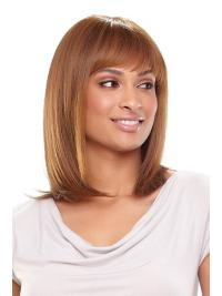 Popular Straight Shoulder Length Best Synthetic Monofilament Wigs
