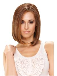 Natural Monofilament Without Bangs Straight 12 Inches Women'S Synthetic Wigs