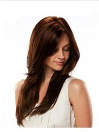 Buy Full Lace Human Hair Wigs Straight Auburn Long Natural Without Bangs