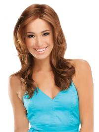 Auburn Layered Long Synthetic Natural Hair Line Lace Wigs