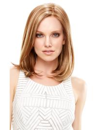 Synthetic Straight Lace Front Fabulous Medium Lenght Blonde Wigs