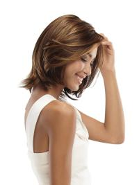 Brown Without Bangs Wavy Sleek Top Lace Front Wig Brands